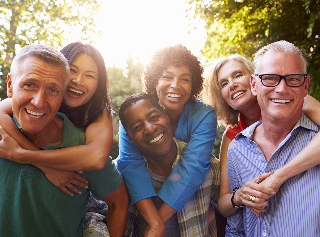 Group of diverse middle age adults